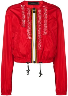 Dsquared2 zipped bomber jacket