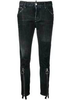 Dsquared2 zipped cuff jeans