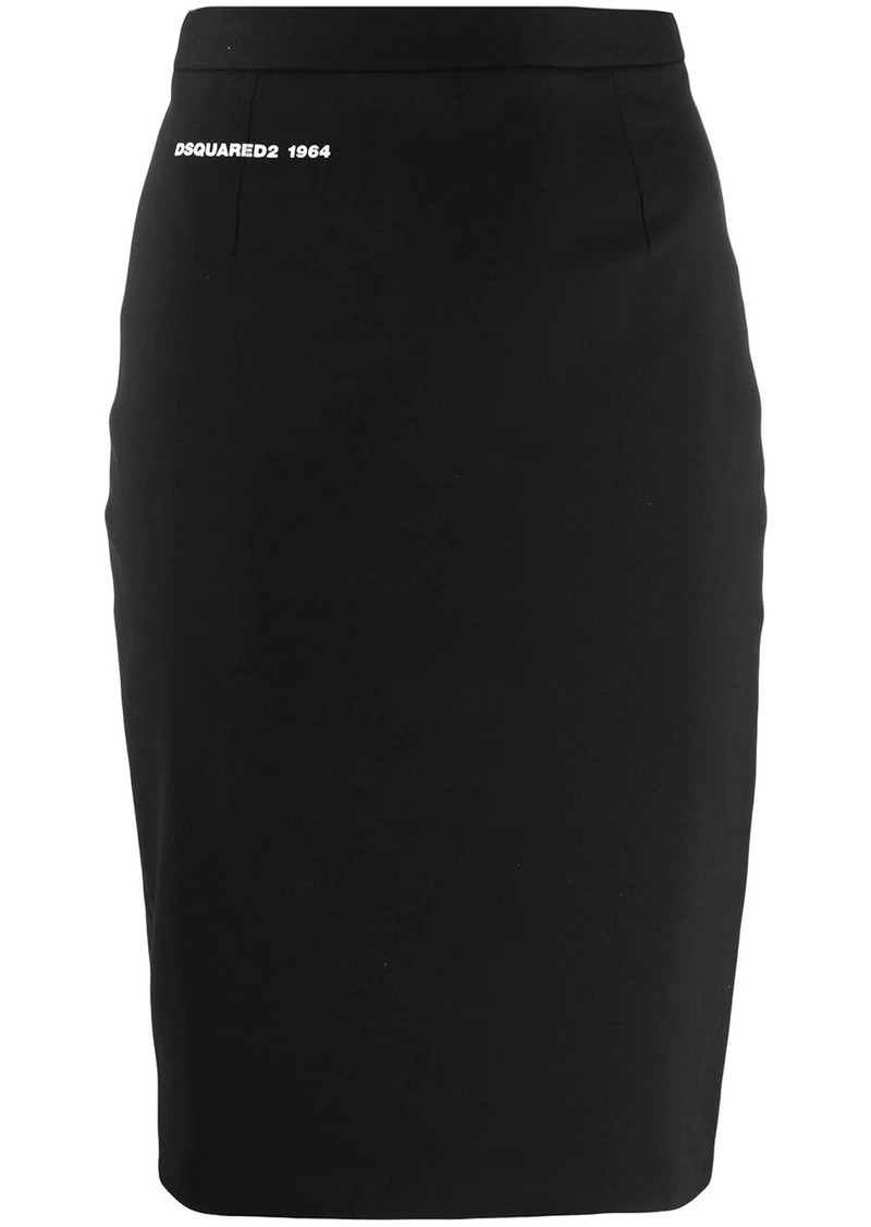 Dsquared2 zipper pencil skirt