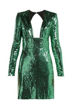 Dundas Cut-out back sequined dress