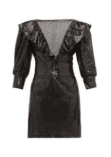 Dundas Mesh-insert sequinned dress