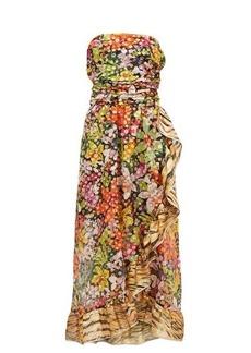 Dundas Ruffled floral-print silk-blend chiffon dress