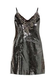 Dundas Sequin-embellished mini dress