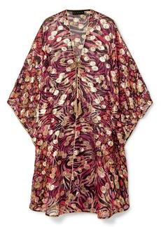 Dundas Metallic Fil Coupé Silk-blend Chiffon Kaftan