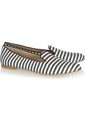 Giuseppe Zanotti Striped twill slippers