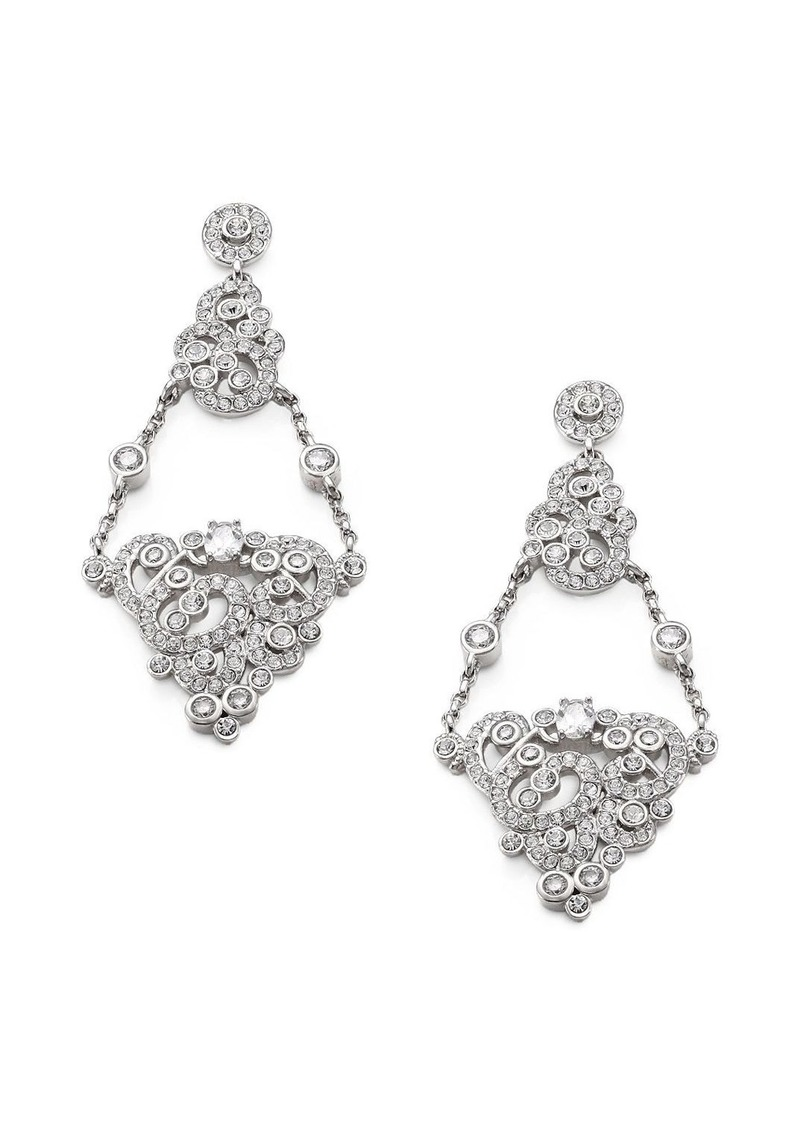 Adriana Orsini Paveé Crystal & Chain Chandelier Earrings