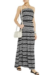 T-Bags Printed satin-jersey maxi dress