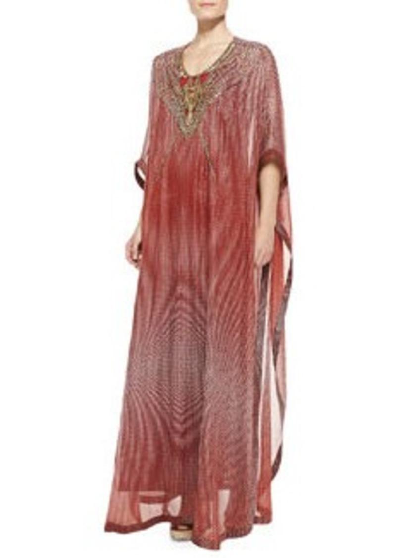 Diane Von Furstenberg Clare Bead-Tech Maxi Coverup Dress   Clare Bead-Tech Maxi Coverup Dress