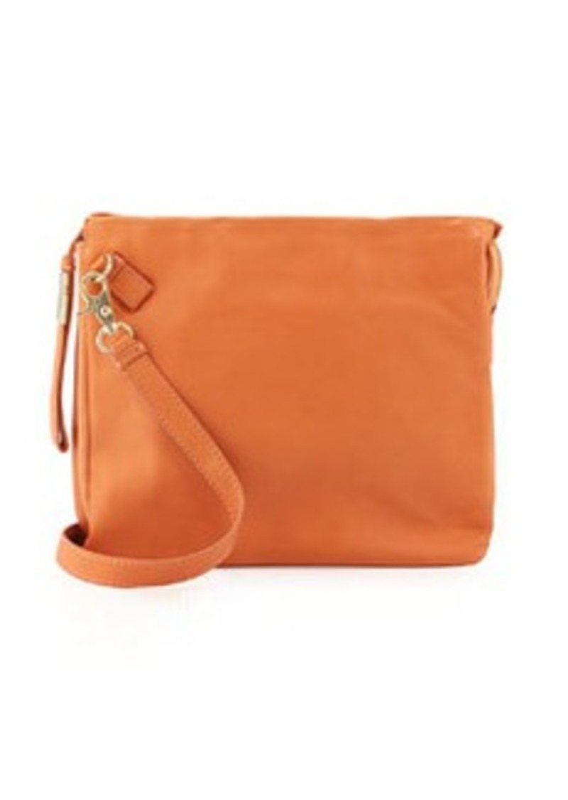 Foley + Corinna Crossbody Accordion Leather Messenger Bag, Peach