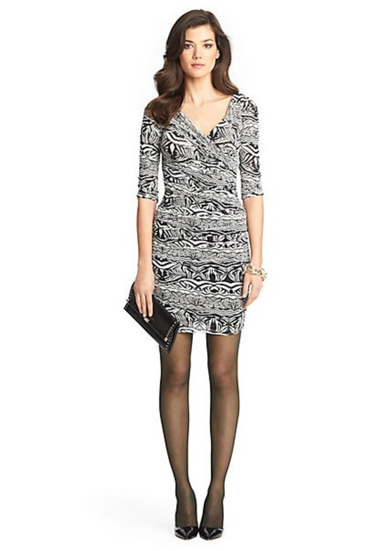 Diane Von Furstenberg Bentley Short Ruched Chiffon Dress