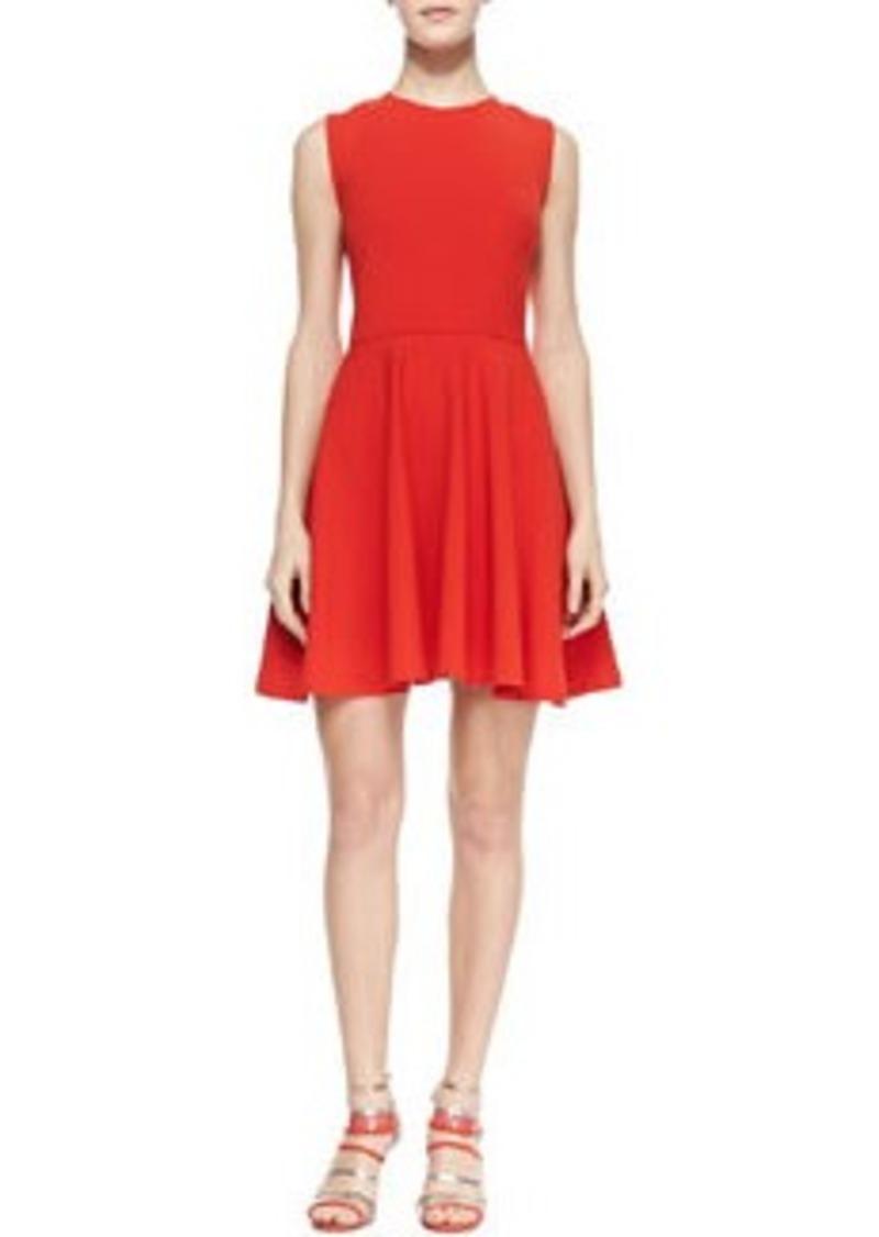 Diane Von Furstenberg Jeannie Fit-and-Flare Dress, Chili Pepper   Jeannie Fit-and-Flare Dress, Chili Pepper
