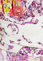 Etro Printed crepe wrap dress