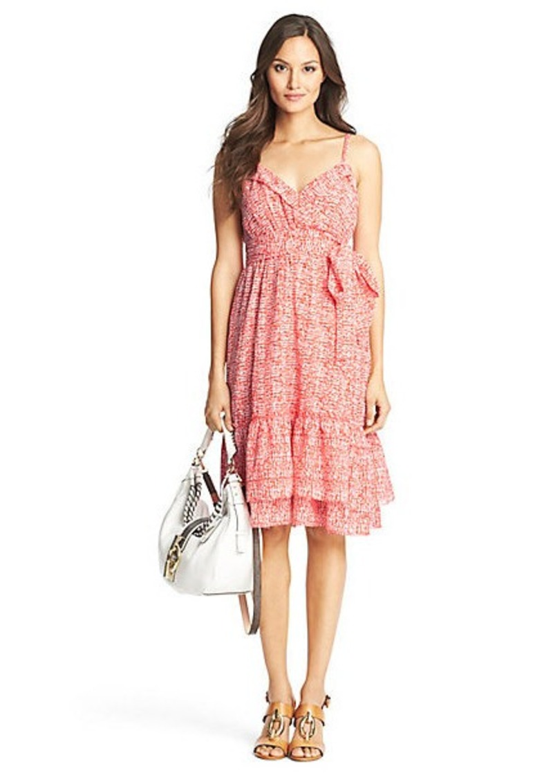 Diane Von Furstenberg Queenie Printed Cotton Tier Dress