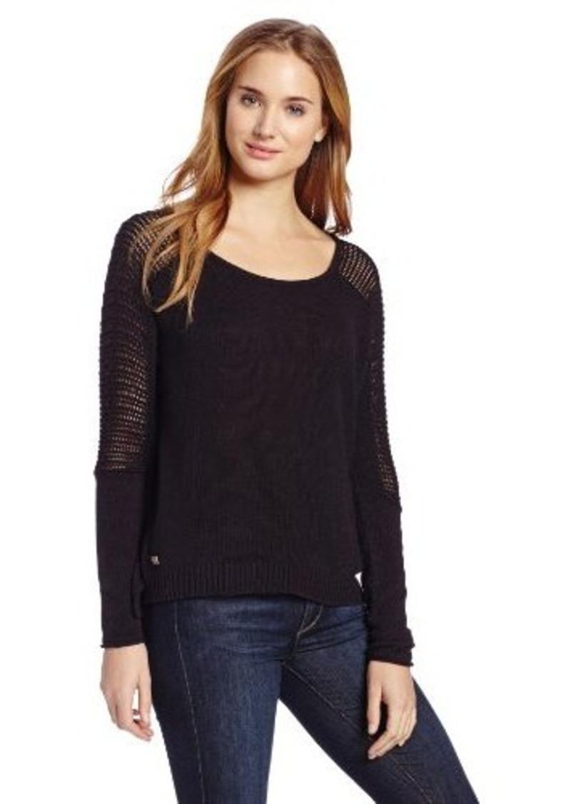 calvin klein calvin klein jeans women 39 s mesh inset sweater. Black Bedroom Furniture Sets. Home Design Ideas