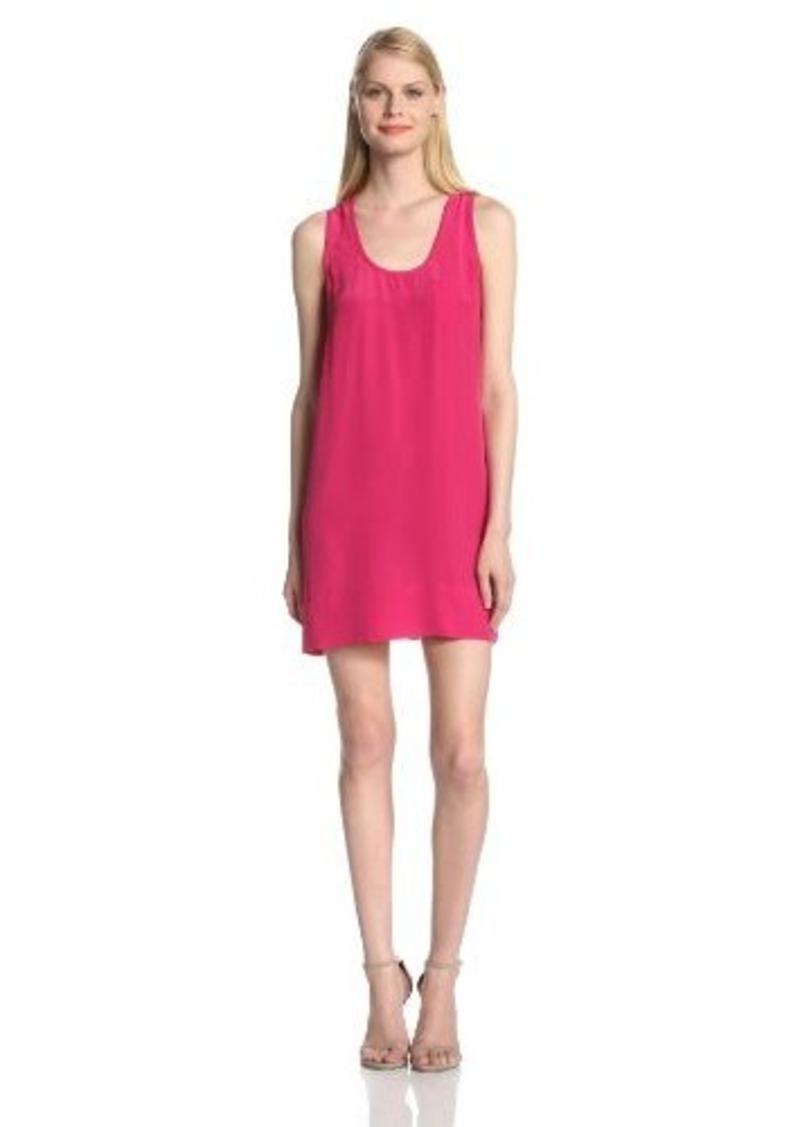 Joie Women's Peri B Silk Sleeveless Tank Dress, Bougainvillea, Large