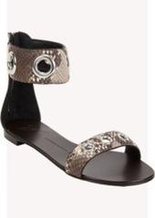 Giuseppe Zanotti Snakeskin-stamped Ankle Band Sandal