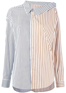 Each x Other deconstructed striped shirt
