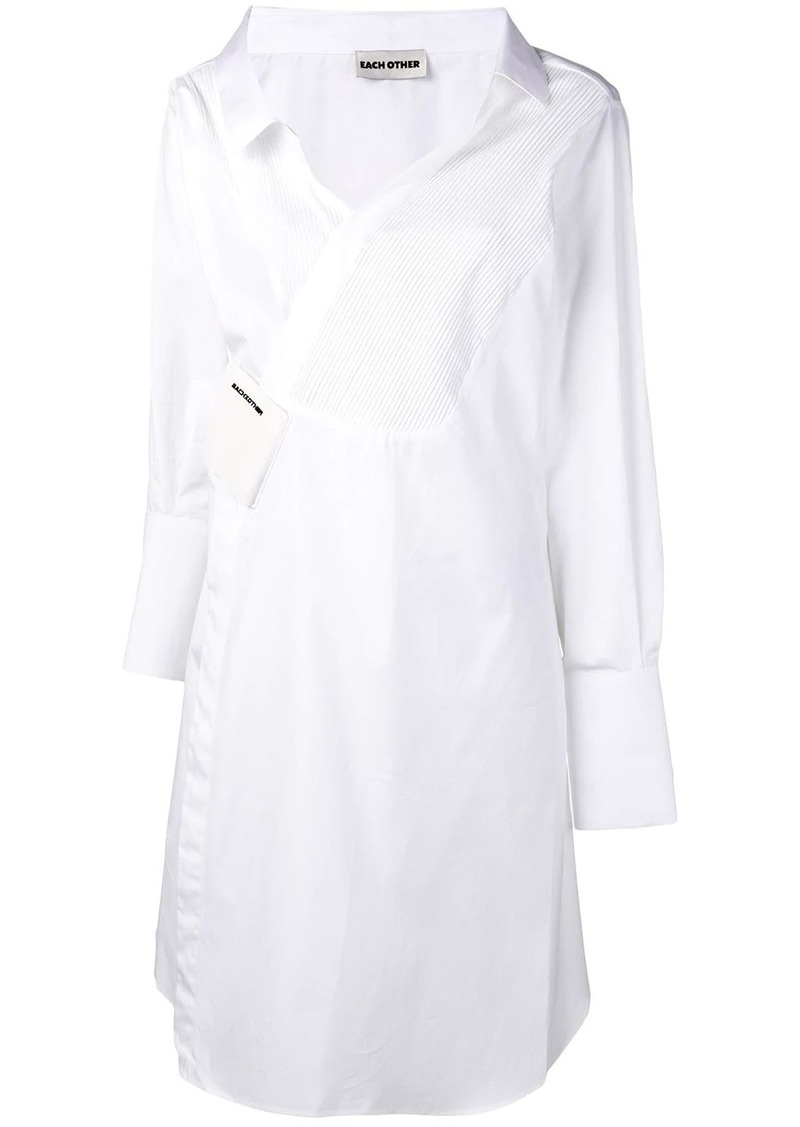 deconstructed tailoring shirt dress