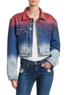 Each x Other Dip Dyed Cropped Denim Jacket