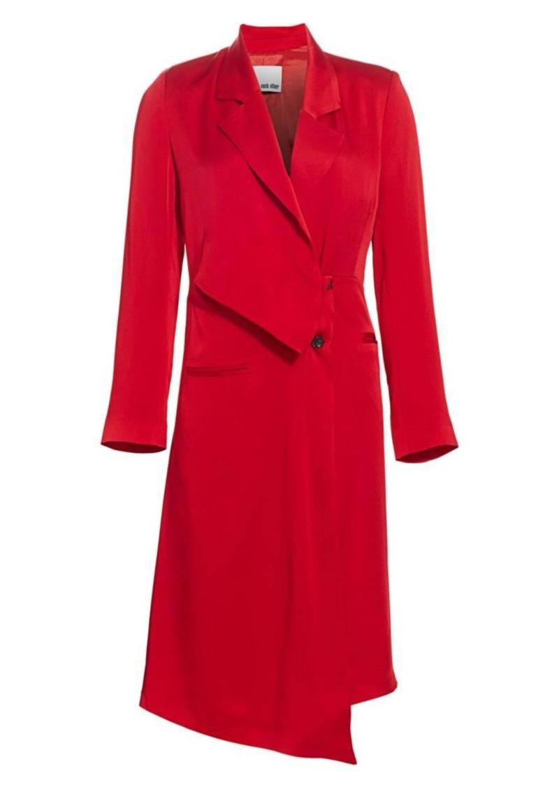 Drape Tailored Button Side Midi Blazer Dress Reg 925 00 On Sale 277 49