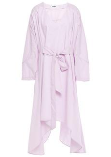 Each X Other Woman Asymmetric Belted Poplin Dress Lilac