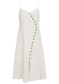 Each X Other Woman Asymmetric Linen Dress Cream
