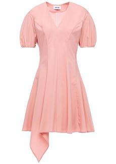 Each X Other Woman Asymmetric Pleated Stretch-cotton Poplin Mini Dress Antique Rose