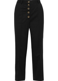 Each X Other Woman Button-detailed Twill Straight-leg Pants Black