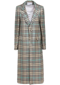 Each X Other Woman Checked Jacquard Coat Gray