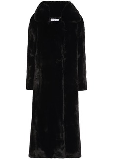 Each X Other Woman Faux Fur Coat Black