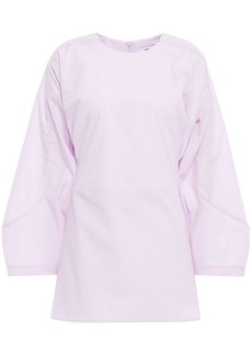 Each X Other Woman Lace-up Poplin Top Lilac