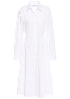 Each X Other Woman Pleated Cotton-poplin Shirt Dress White