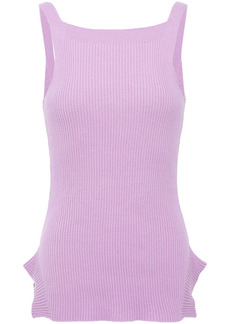 Each X Other Woman Riribbed Cotton Tank Lilac