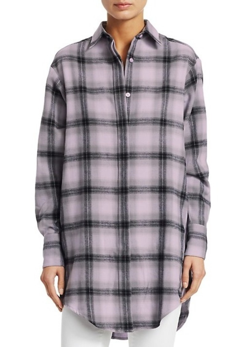 Each x Other Flannel Check Graphic Shirt
