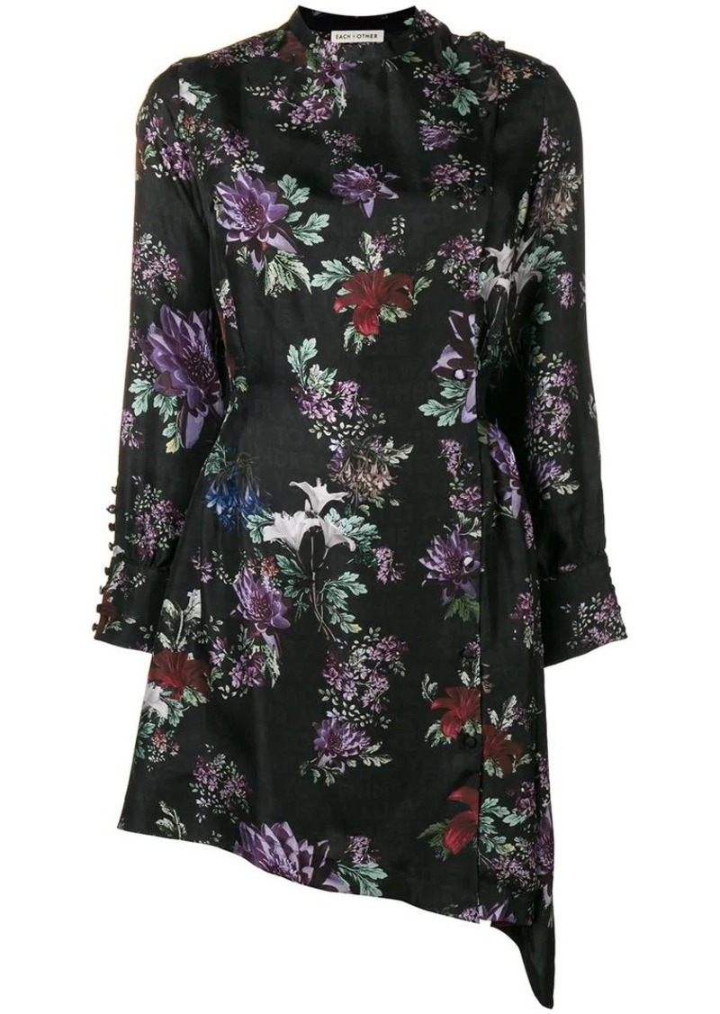 Each x Other Floral Printed Asymmetric Dress