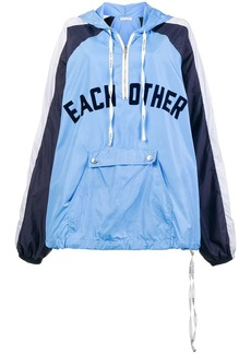 Each x Other front logo rain hoodie