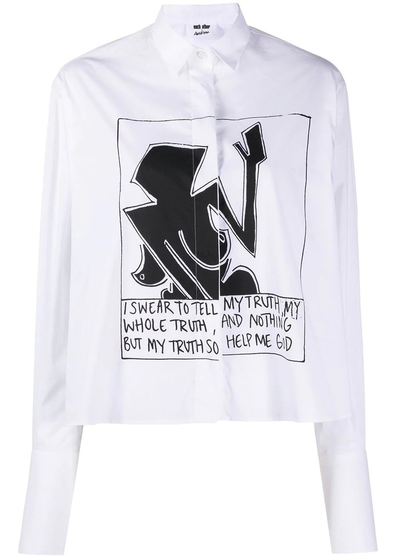 Each x Other graphic print shirt
