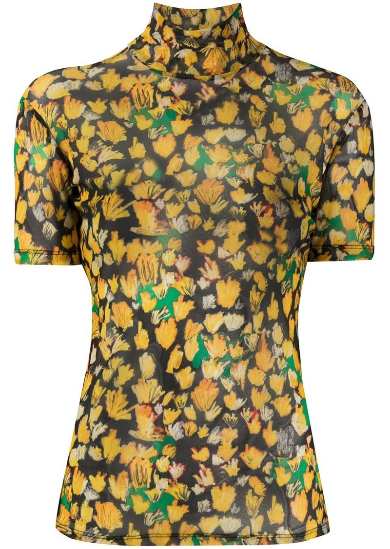 Each x Other high neck printed top