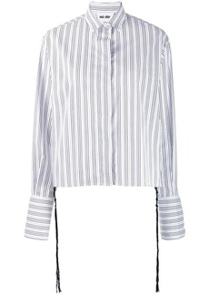 Each x Other knotted tassels poplin shirt