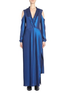 Each x Other Pleated Metallic Maxi Dress