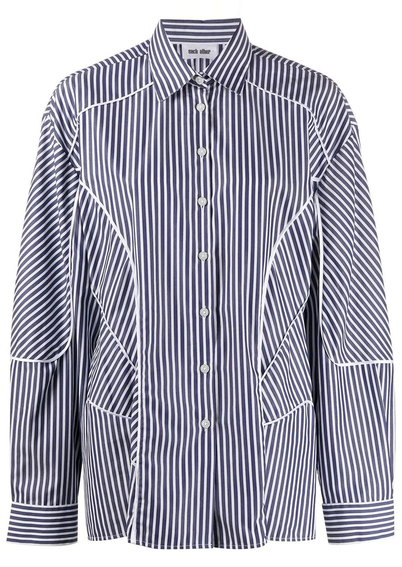 Each x Other striped panelled shirt