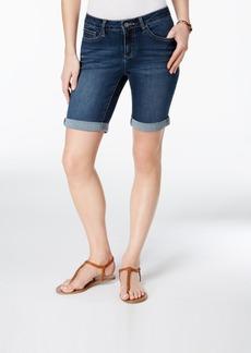 Earl Jeans Cuffed Bermuda Shorts