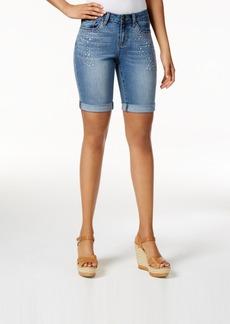Earl Jeans Embellished Denim Bermuda Shorts
