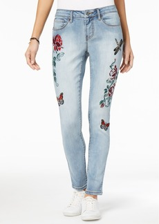 Earl Jeans Embroidered Boyfriend Jeans
