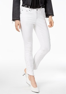 Earl Jeans Imitation-Pearl Skinny Jeans
