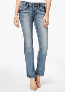 Earl Jean Indigo United Juniors' Embellished-Pocket Bootcut Jeans
