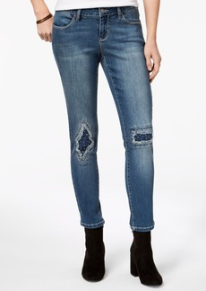 Earl Jean Indigo United Juniors' Embellished Ripped & Repaired Skinny Jeans