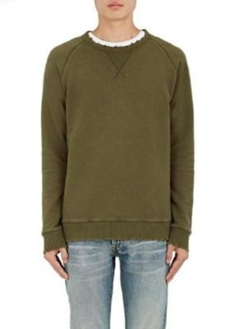 Earnest Sewn Men's Grip Sweatshirt-Dark Green Size M