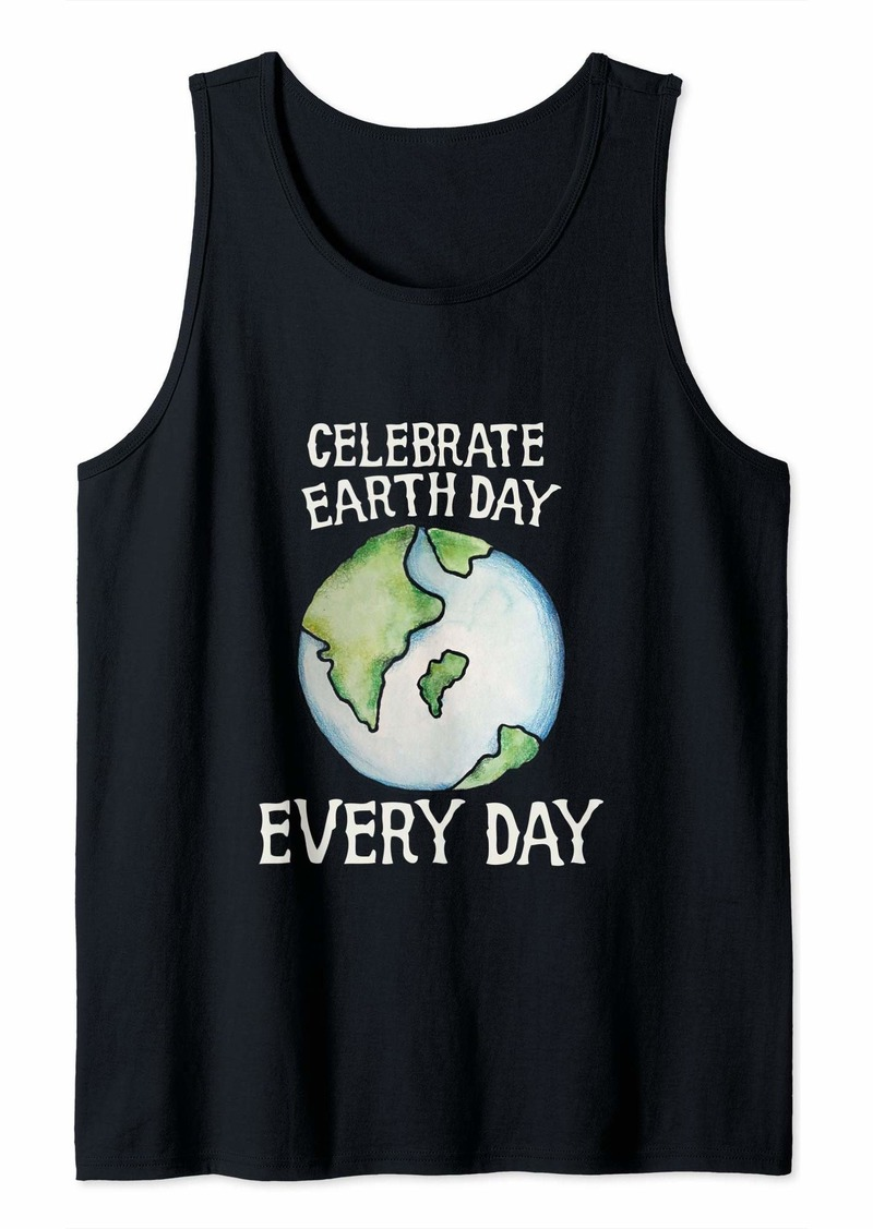 Celebrate earth day every day Tree Hugger Earth  Tank Top