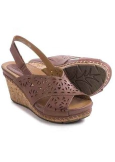 Earth Aries Sandals - Leather, Wedge Heel (For Women)